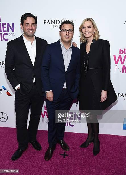 EVP GM AE Lifetime Rob Sharenow President of The Hollywood Reporter Billboard John Amato and EVP Head of Programming Lifetime Liz Gateley attend...