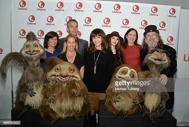 Lifetime VPs Tanya Lopez and Tia Maggini actors Jay Harrington Mary Steenburgen and Genevieve Buechner executive producer Lisa Henson and director...