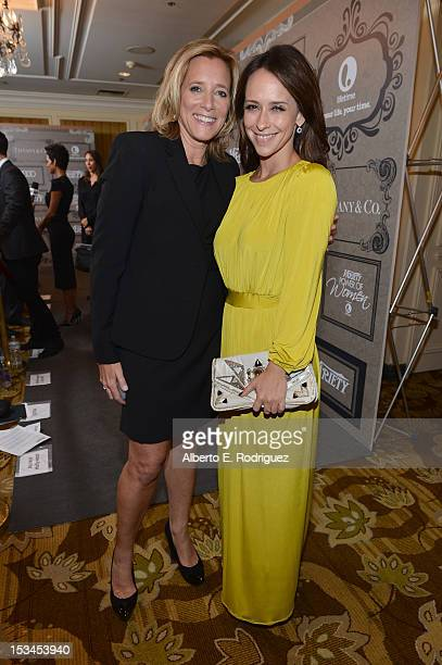 Lifetime's Nina Lederman and actress Jennifer Love Hewitt arrive at Variety's 4th Annual Power of Women Event Presented by Lifetime at the Beverly...