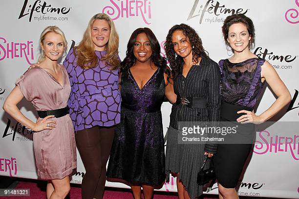 Lifetime's Sherri cast actresses Kate Reinders Elizabeth Regen Sherri Shepherd Tammy Townsend and Kali Rocha attend the Sherri launch party at the...