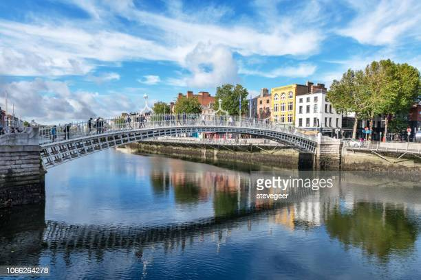 liffey bridge, dublin, ireland - dublin stock pictures, royalty-free photos & images