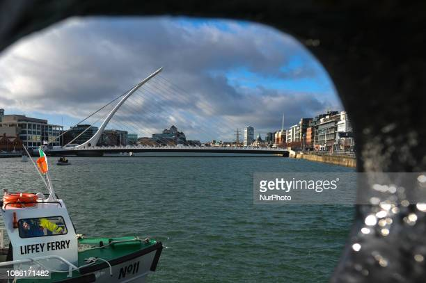'Liffey Ferry' during the inaugural crossing on Liffey river in Dublin The historic No 11 Liffey Ferry the dockers taxi that used to link people...