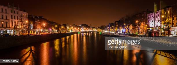Liffey panorama from O'Connell Street Bridge