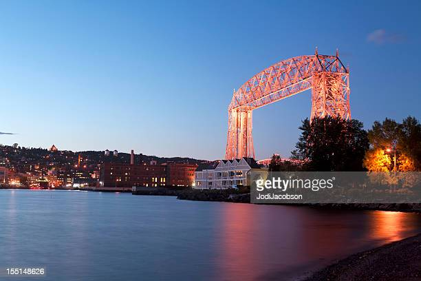 lift bridge deluth minneaota - minnesota stock pictures, royalty-free photos & images
