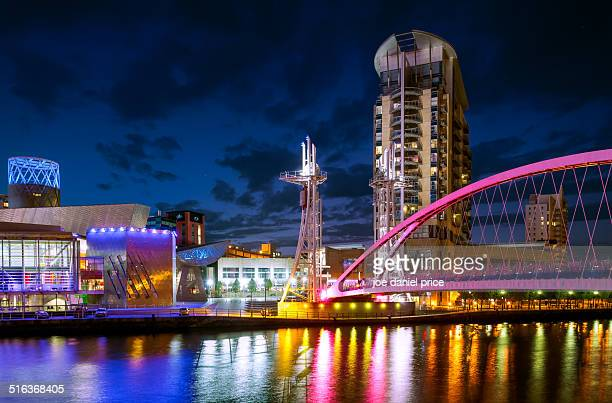 lift bridge - manchester uk stock photos and pictures
