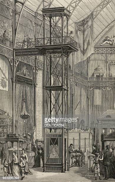 Lift presented at the Centennial Exhibition of Arts Manufactures and Products of the Soil and Mine Filadelfia United States of America engraving from...
