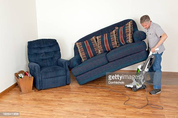 Lifting a Sofa to Vacuum Underneath