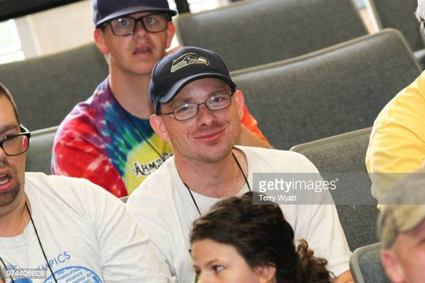 Lifting Lives campers attend the ACM Lifting Lives Music Camp Songwriting Workshop at Vanderbilt University on June 14 2018 in Nashville Tennessee
