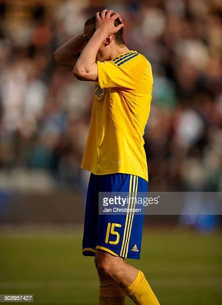 Liga Jon Jönsson BIF Brøndby is disappointed about the result © Jan Christensen / Frontzonesportdk