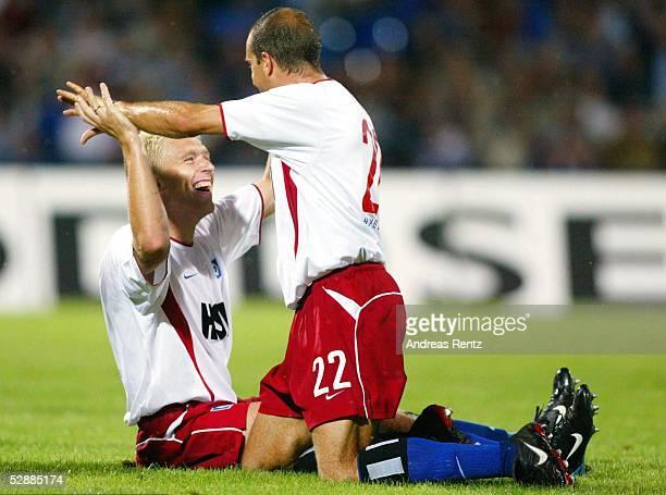 Liga Pokal 2003 Dessau Hamburger SV Hertha BSC Berlin 21 Jubel Christian RAHN Stefan BEINLICH/HSV