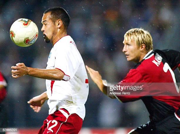 Liga Pokal 2003 Dessau Hamburger SV Hertha BSC Berlin 21 Naohiro TAKAHARA/HSV Bartosz KARWAN/Hertha