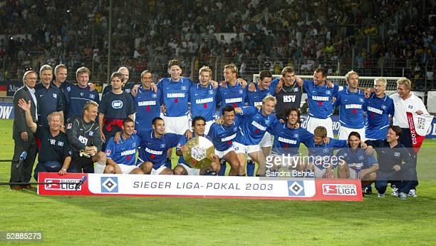 Liga Pokal 2003 Finale Mainz Borussia Dortmund Hamburger SV 24'Hamburger SV DFB Liga Pokal Sieger 2003 '
