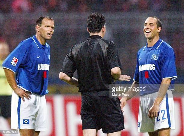 Liga Pokal 2003 Jena FC Bayern Muenchen Hamburger SV 47 nE NicoJan HOOGMA/HSV Schiedsrichter Juergen HANSEN Stefan BEINLICH/HSV