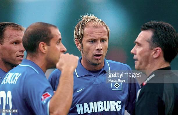 Liga Pokal 2003 Jena FC Bayern Muenchen Hamburger SV vli NicoJan HOOGMA Stefan BEINLICH Sergej BARBAREZ/HSV Schiedsrichter Juergen JANSEN
