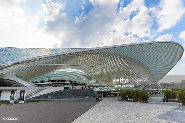 liège-guillemins railway station, liège, belgium - liege province stock pictures, royalty-free photos & images