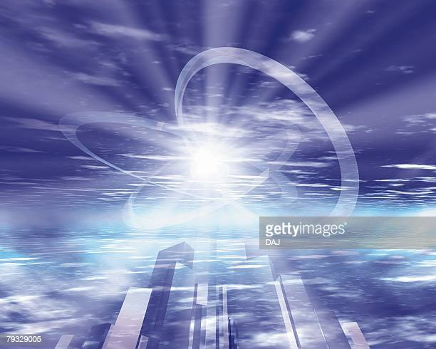 Light and Rings, CG, 3D, Lens Flare