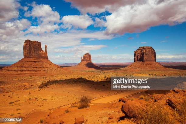 light and shadow over monument valley - monument valley tribal park stock photos and pictures