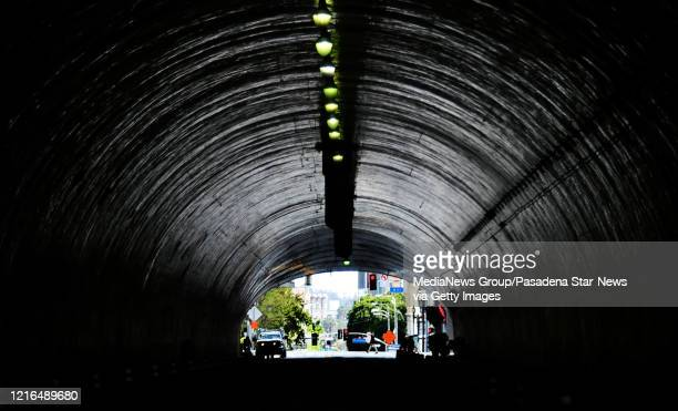 Light at the end of the tunnel along second St. And Hill during the Coronavirus Pandemic in Los Angeles on Thursday, April 02, 2020.