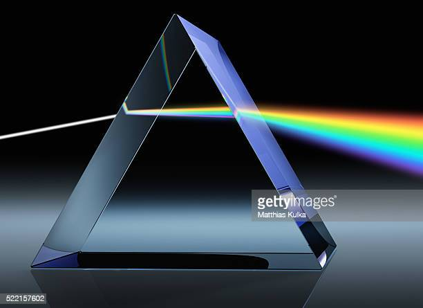 Light Beam Through Glass Prism