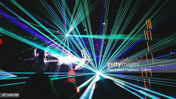 Light Beams At Nightclub