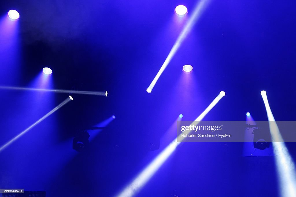 Light Beams During Concert : Stock Photo