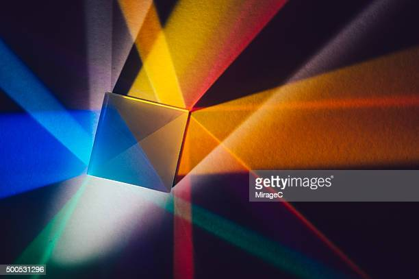 Light Beams Refracted through Prism to Spectrum