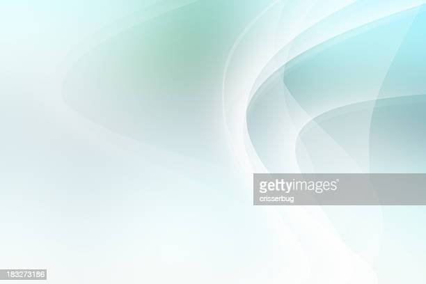 Light Blue and Green Abstract Background