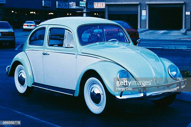 Light Blue and White Volkswagen Beetle