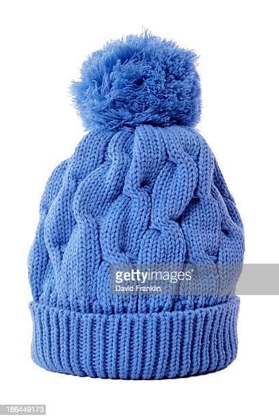 Light blue bobble hat
