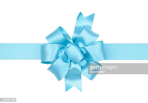 light blue gift bow - light blue stock pictures, royalty-free photos & images