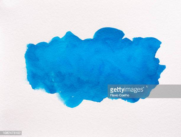 light blue watercolor brush strokes - watercolor background stock pictures, royalty-free photos & images
