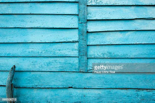 Light blue wood wall
