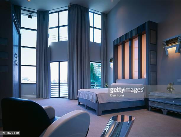 Light Box Headboard in Contemporary Bedroom