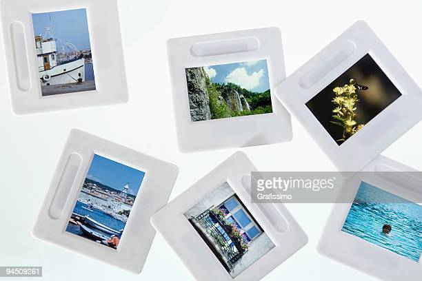 Light box with vacation slides