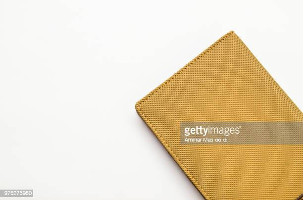 Light brown notebook cover isolated on white background