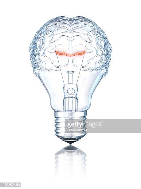 light bulb brain - light bulb stock pictures, royalty-free photos & images