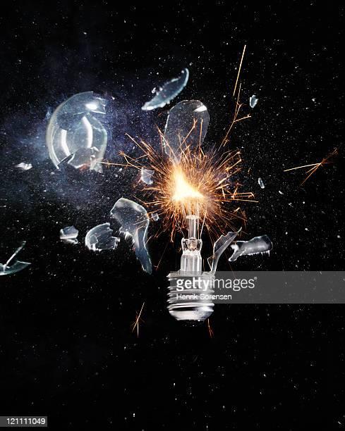 Light bulb exploding