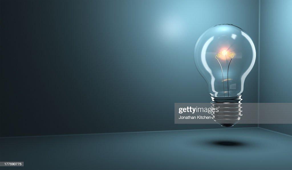 Light Bulb Glowing : Stock Photo