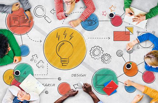 Light Bulb Ideas Creative Diagram Concept 1130023029