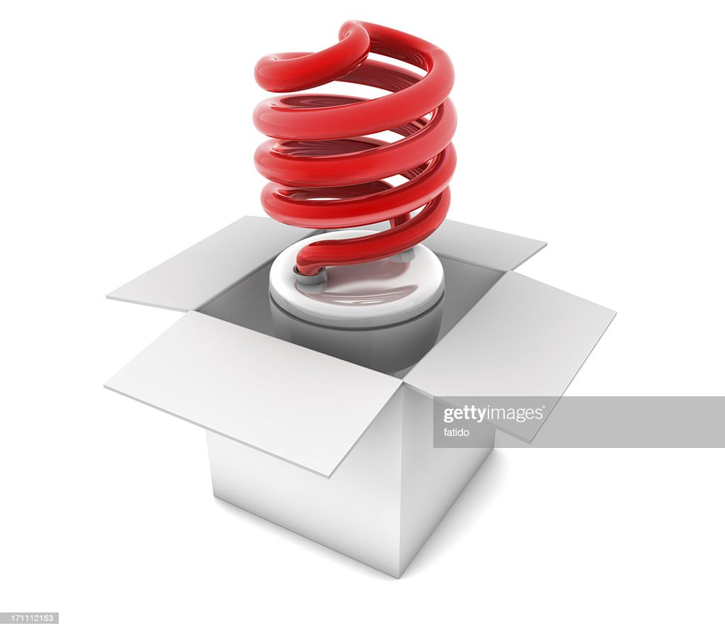 Light Bulb in Box : Stock Photo