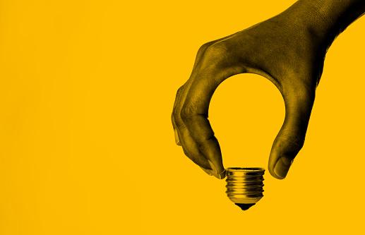 Light Bulb in Hand 1155741541