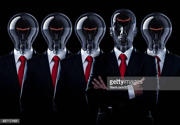 Glühbirne Mann Führung