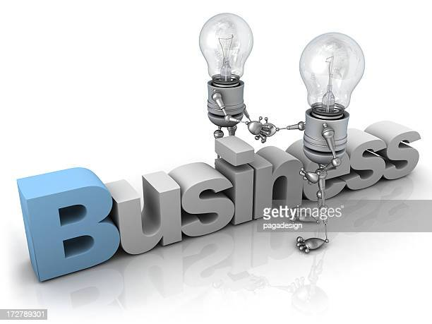 Light Bulb Robot - Business