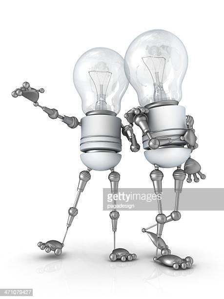 Glühbirne Roboter