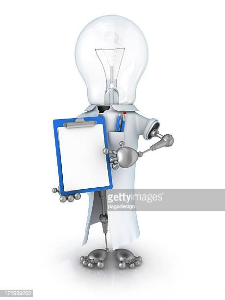 light bulb robot scientist