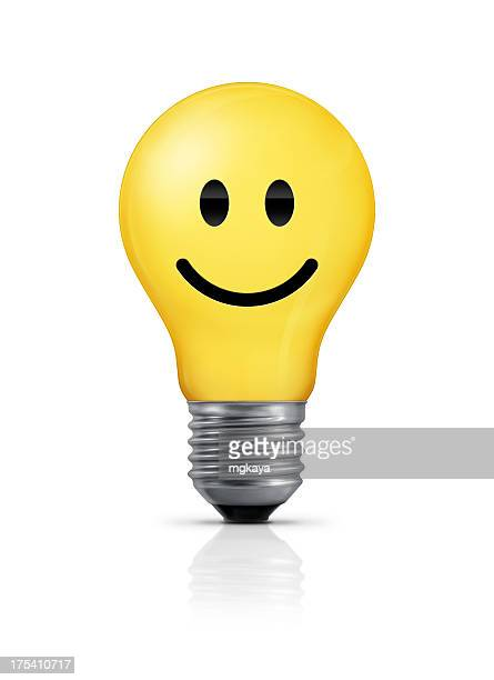 Light Bulb - Smiley Face