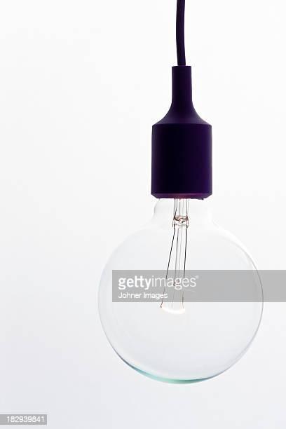 light bulb, studio shot - lampada elettrica foto e immagini stock