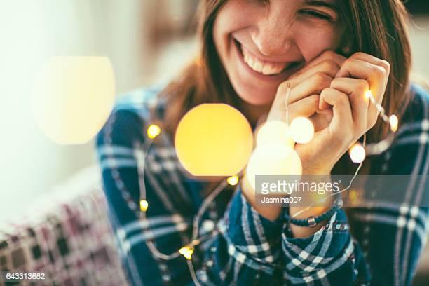 Glühbirnen und Lächeln