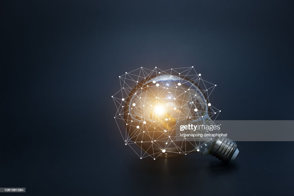 light bulbs concept,ideas of new ideas with innovative technology and creativity. : Stockfoto