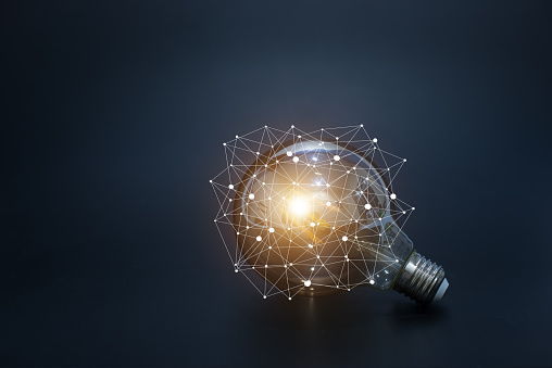 light bulbs concept,ideas of new ideas with innovative technology and creativity. - gettyimageskorea